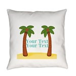 Personalizable Palm Trees Everyday Pillow