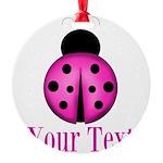 Purple Ladybug Ornament