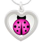 Purple Ladybug Necklaces