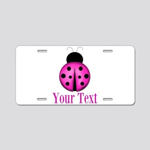 Purple Ladybug Aluminum License Plate