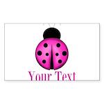 Purple Ladybug Sticker