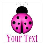 Purple Ladybug Square Car Magnet 3