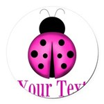 Purple Ladybug Round Car Magnet