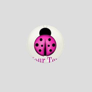 Purple Ladybug Mini Button