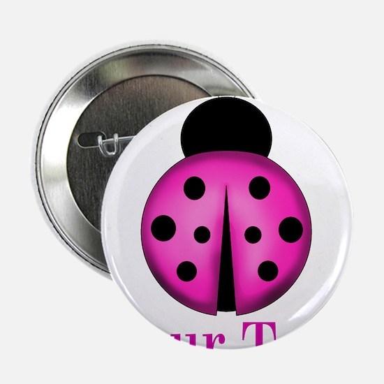 "Purple Ladybug 2.25"" Button"