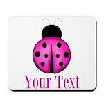 Purple Ladybug Mousepad