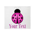 Purple Ladybug Throw Blanket