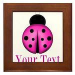Purple Ladybug Framed Tile