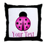 Purple Ladybug Throw Pillow