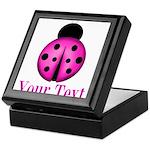 Purple Ladybug Keepsake Box