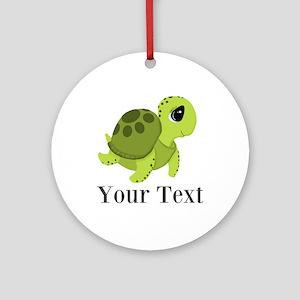 Personalizable Sea Turtle Round Ornament