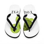 Personalizable Sea Turtle Flip Flops