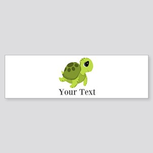 Personalizable Sea Turtle Bumper Sticker