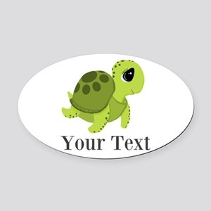 Personalizable Sea Turtle Oval Car Magnet