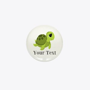 Personalizable Sea Turtle Mini Button