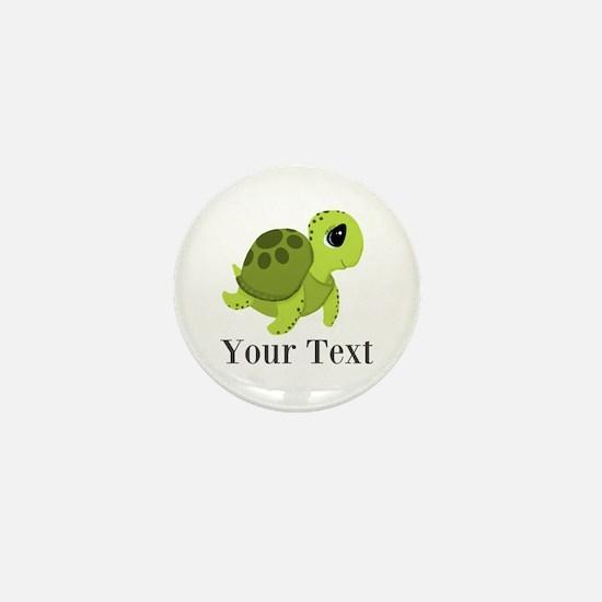 Personalizable Sea Turtle Mini Button