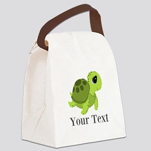 Personalizable Sea Turtle Canvas Lunch Bag