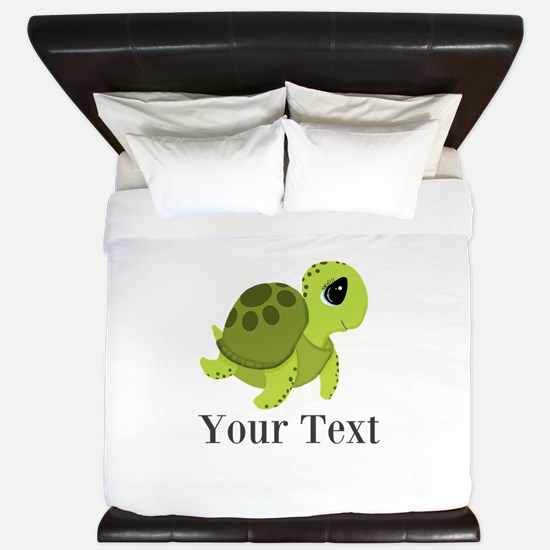 Personalizable Sea Turtle King Duvet