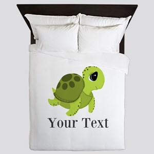 Personalizable Sea Turtle Queen Duvet
