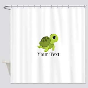 Personalizable Sea Turtle Shower Curtain