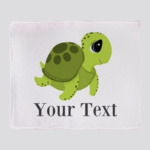 Personalizable Sea Turtle Throw Blanket