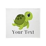Personalizable Sea Turtle Throw Blanket
