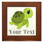 Personalizable Sea Turtle Framed Tile