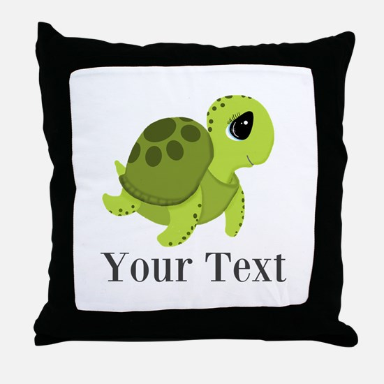 Personalizable Sea Turtle Throw Pillow