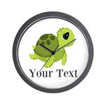 Personalizable Sea Turtle Wall Clock