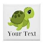 Personalizable Sea Turtle Tile Coaster