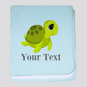 Personalizable Sea Turtle baby blanket