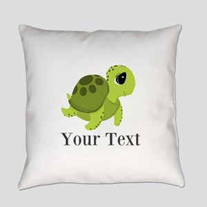 Personalizable Sea Turtle Everyday Pillow