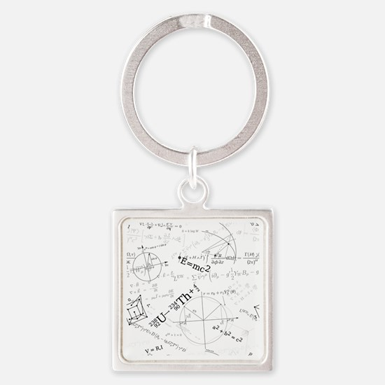 Cute Equations Square Keychain