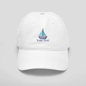 Customizable Blue Sailboat Baseball Cap