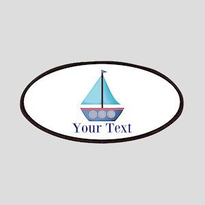 Customizable Blue Sailboat Patch