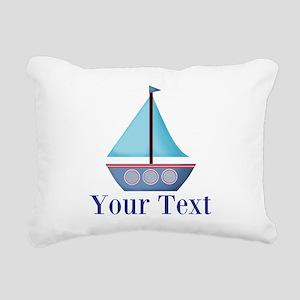 Customizable Blue Sailboat Rectangular Canvas Pill