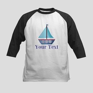 Customizable Blue Sailboat Baseball Jersey