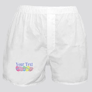 Personalizable Easter Eggs Blue Boxer Shorts
