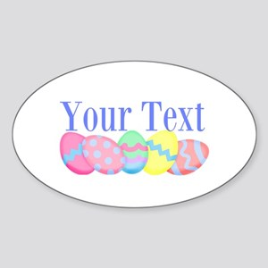 Personalizable Easter Eggs Blue Sticker
