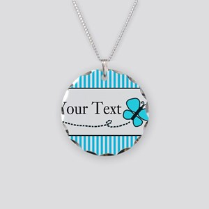 Personalizable Teal Butterfly Necklace