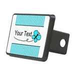 Personalizable Teal Butterfly Hitch Cover