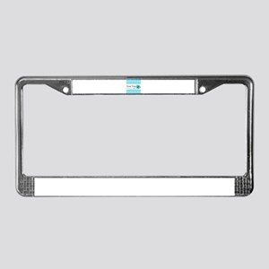 Personalizable Teal Butterfly License Plate Frame