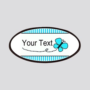 Personalizable Teal Butterfly Patch