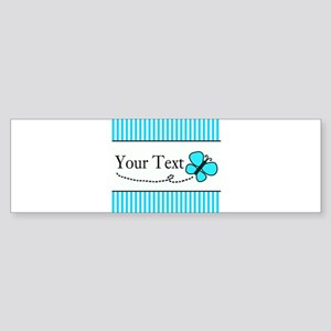 Personalizable Teal Butterfly Bumper Sticker