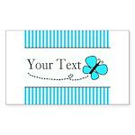 Personalizable Teal Butterfly Sticker