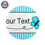 Personalizable Teal Butterfly 3.5