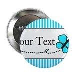 Personalizable Teal Butterfly 2.25