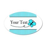 Personalizable Teal Butterfly Wall Decal