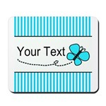 Personalizable Teal Butterfly Mousepad