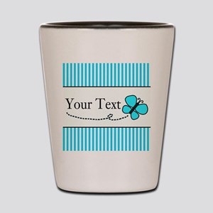 Personalizable Teal Butterfly Shot Glass